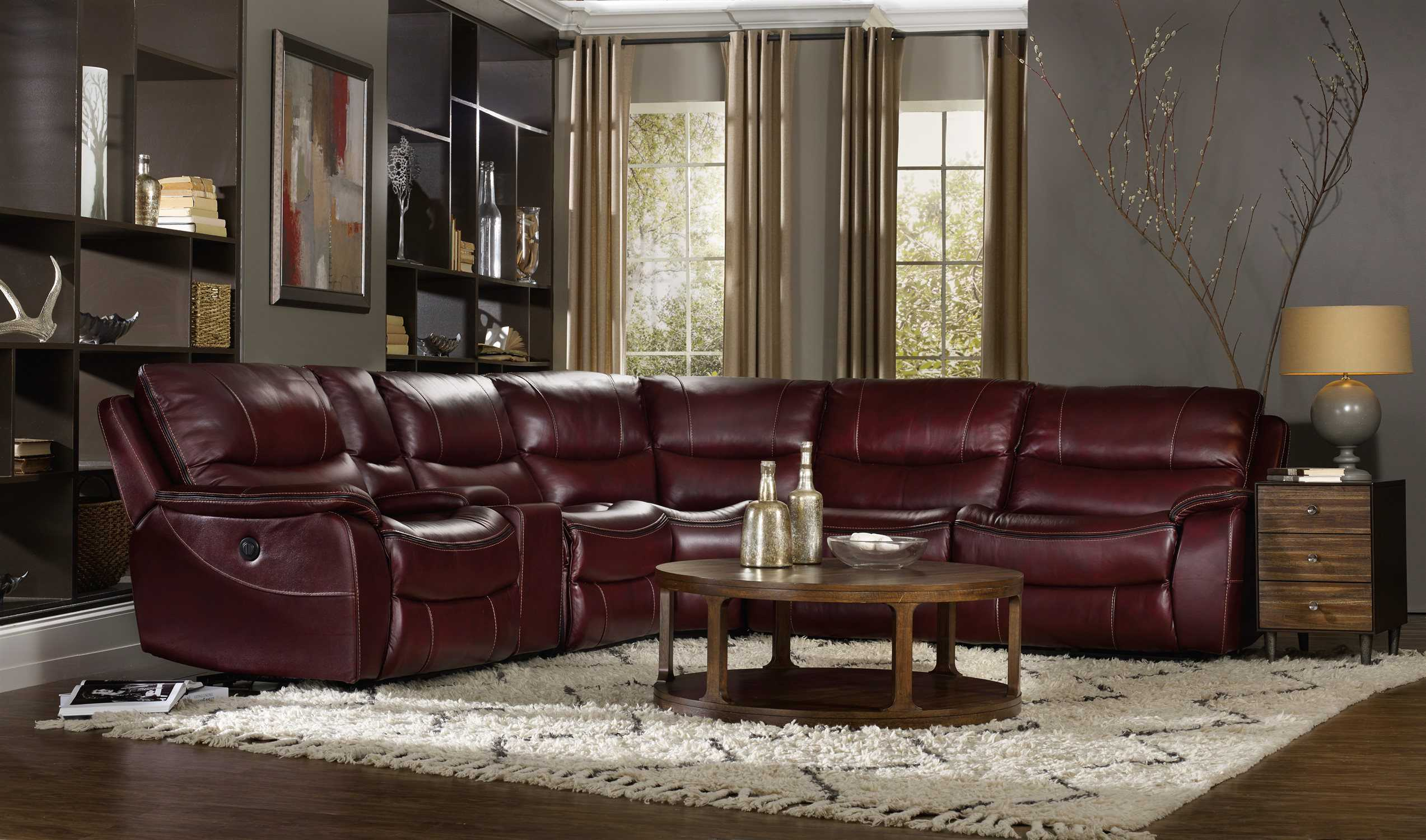 red living room set throw rugs for hooker furniture wine with black trim ...