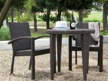 Hospitality Rattan Outdoor Soho Wicker Three Piece Bistro