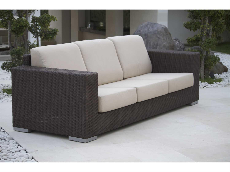 outdoor wicker sofa cushions 60 long table hospitality rattan cava aluminum with