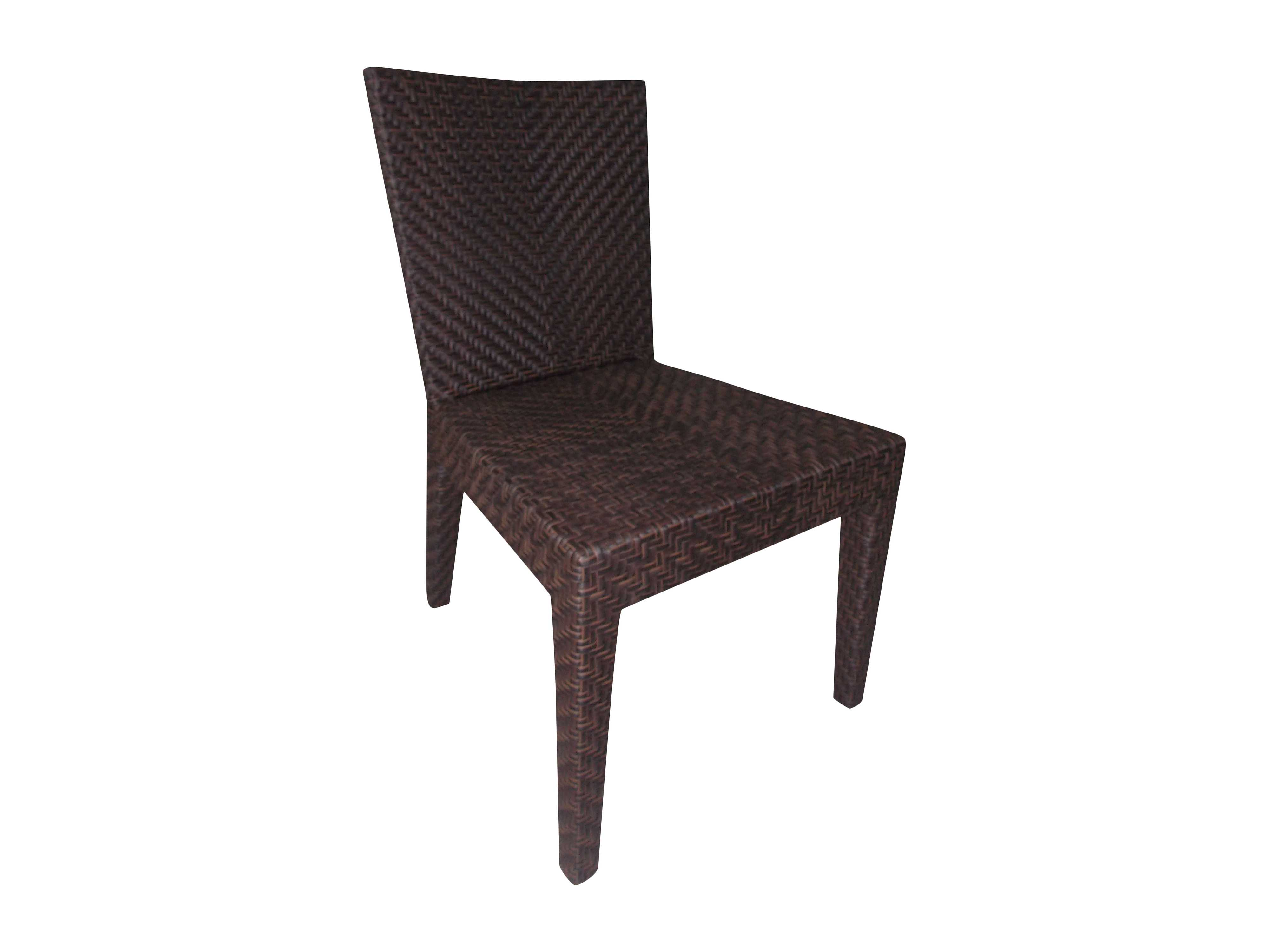 Wicker Side Chair Hospitality Rattan Outdoor Soho Wicker Dining Side Chair