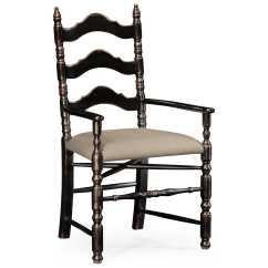 Distressed Adirondack Chairs Heavy Duty Beach Chair Jonathan Charles Country Farmhouse Painted Honey Black