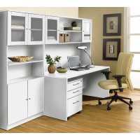 Unique Furniture 100 Series White Executive Office Desk ...