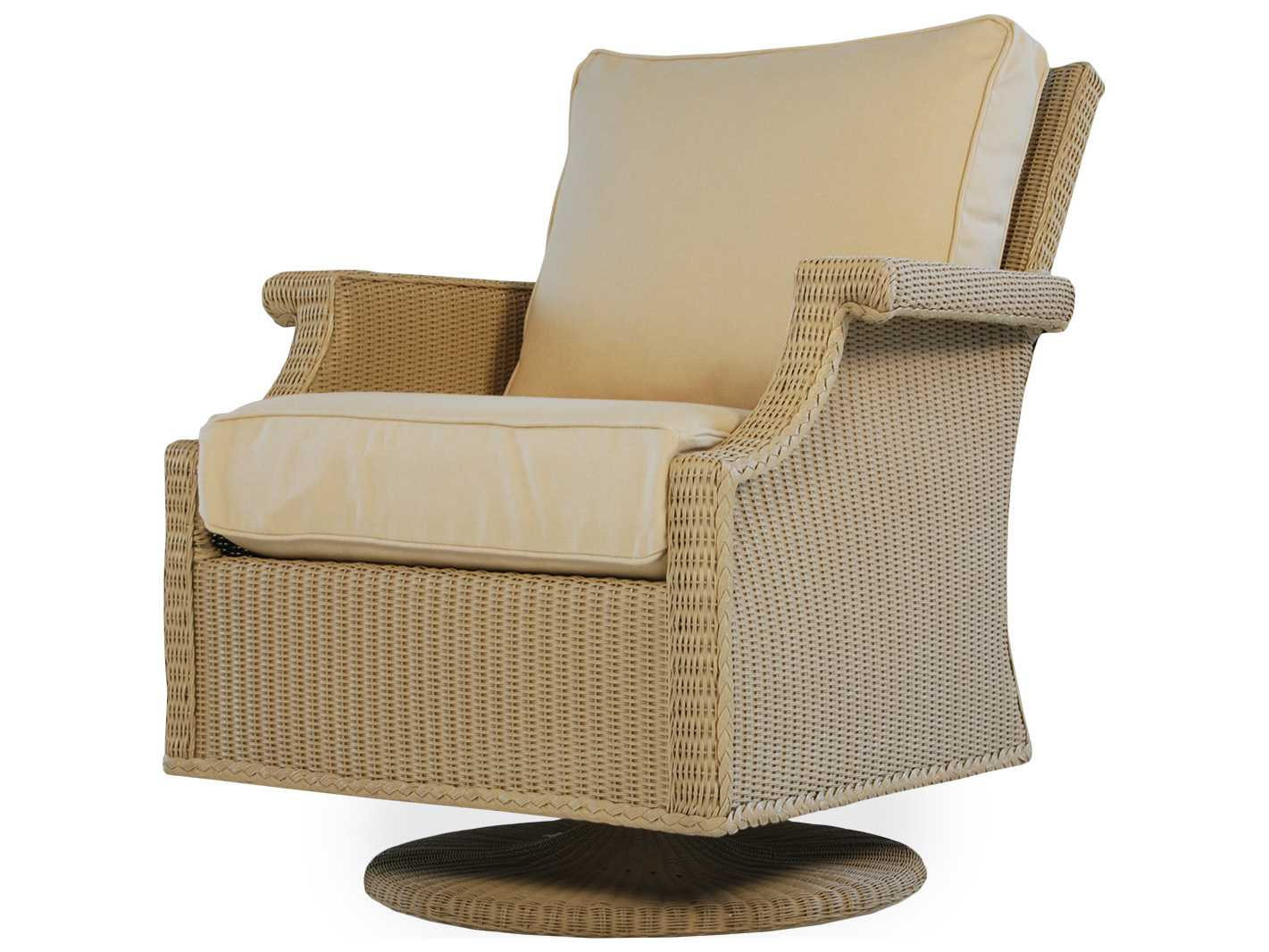 portable lounge chair cushion dining table and chairs lloyd flanders hamptons swivel rocker