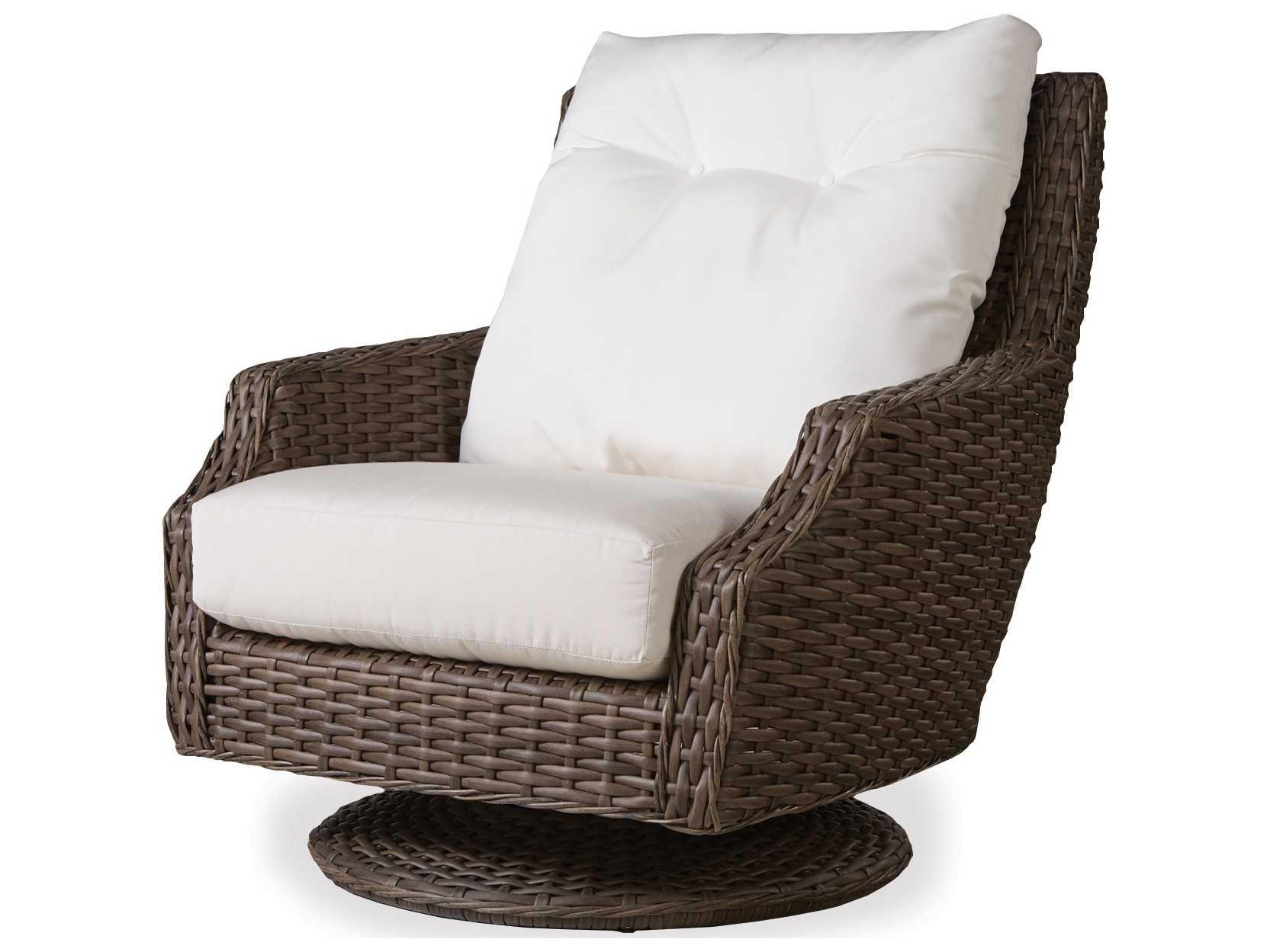 high back outdoor chair cushion covers best gamer lloyd flanders largo wicker swivel rocker | 241080