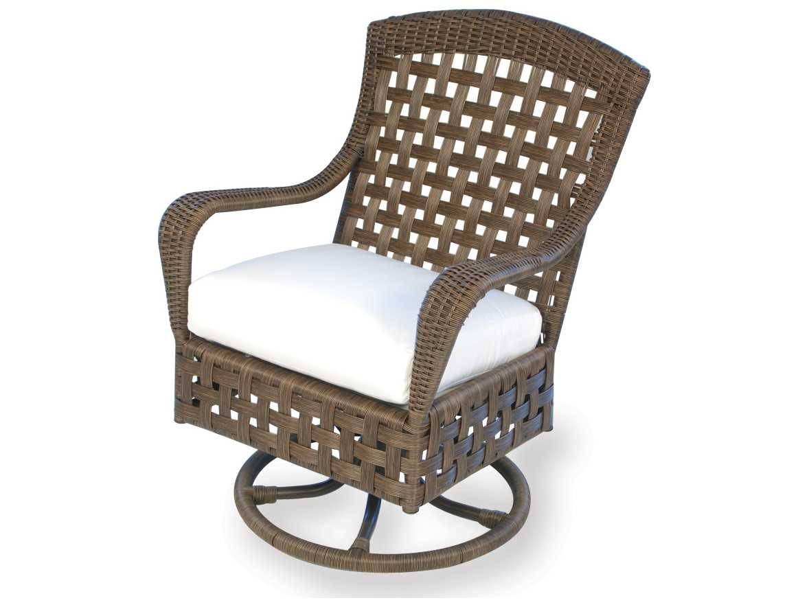wicker swivel outdoor dining chair cover hire pembrokeshire lloyd flanders haven 43071
