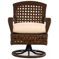 Wicker Swivel Outdoor Dining Chair Woodworking Plans Adirondack Chairs Lloyd Flanders Haven 43071
