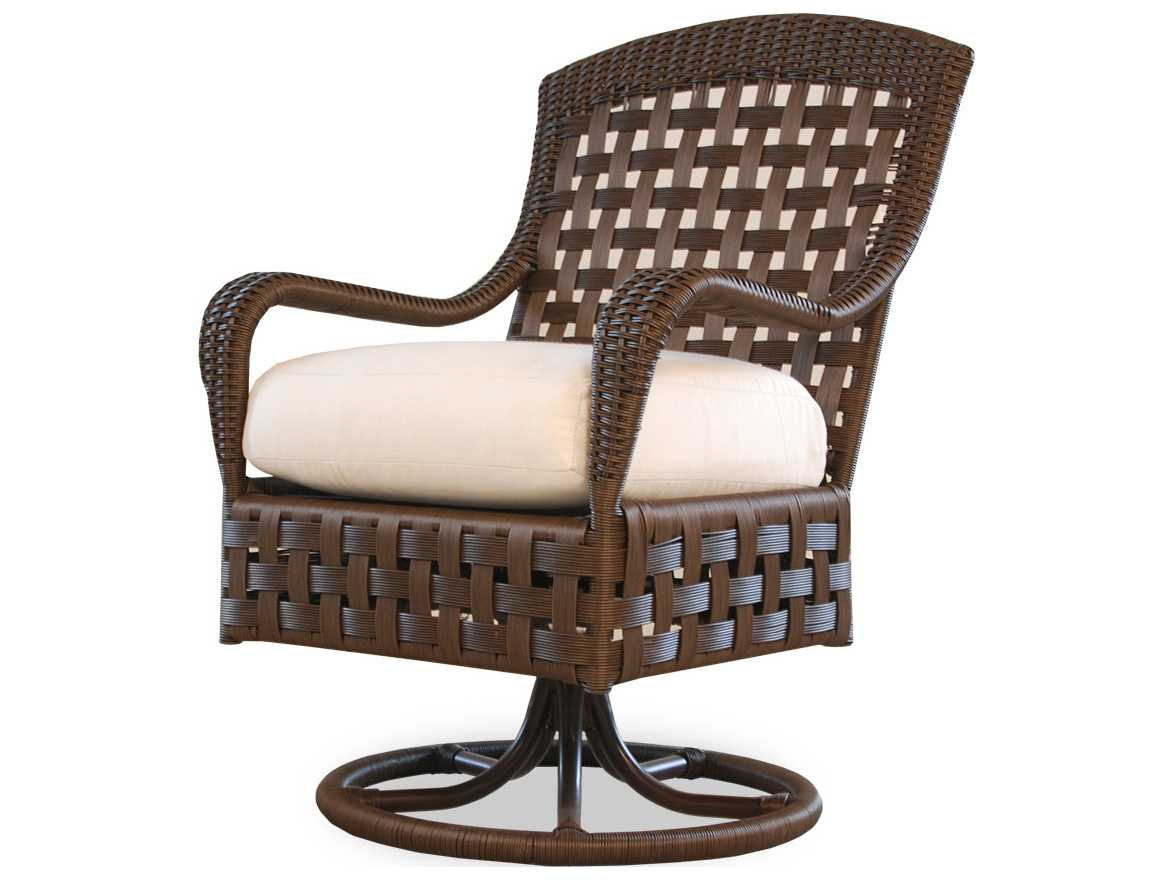 wicker swivel outdoor dining chair kodex accessories lloyd flanders haven 43071