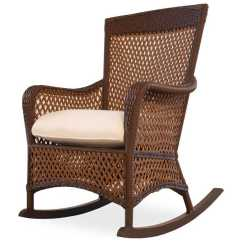 Rocking Chair Seat Replacement Black Fuzzy Lloyd Flanders Grand Traverse