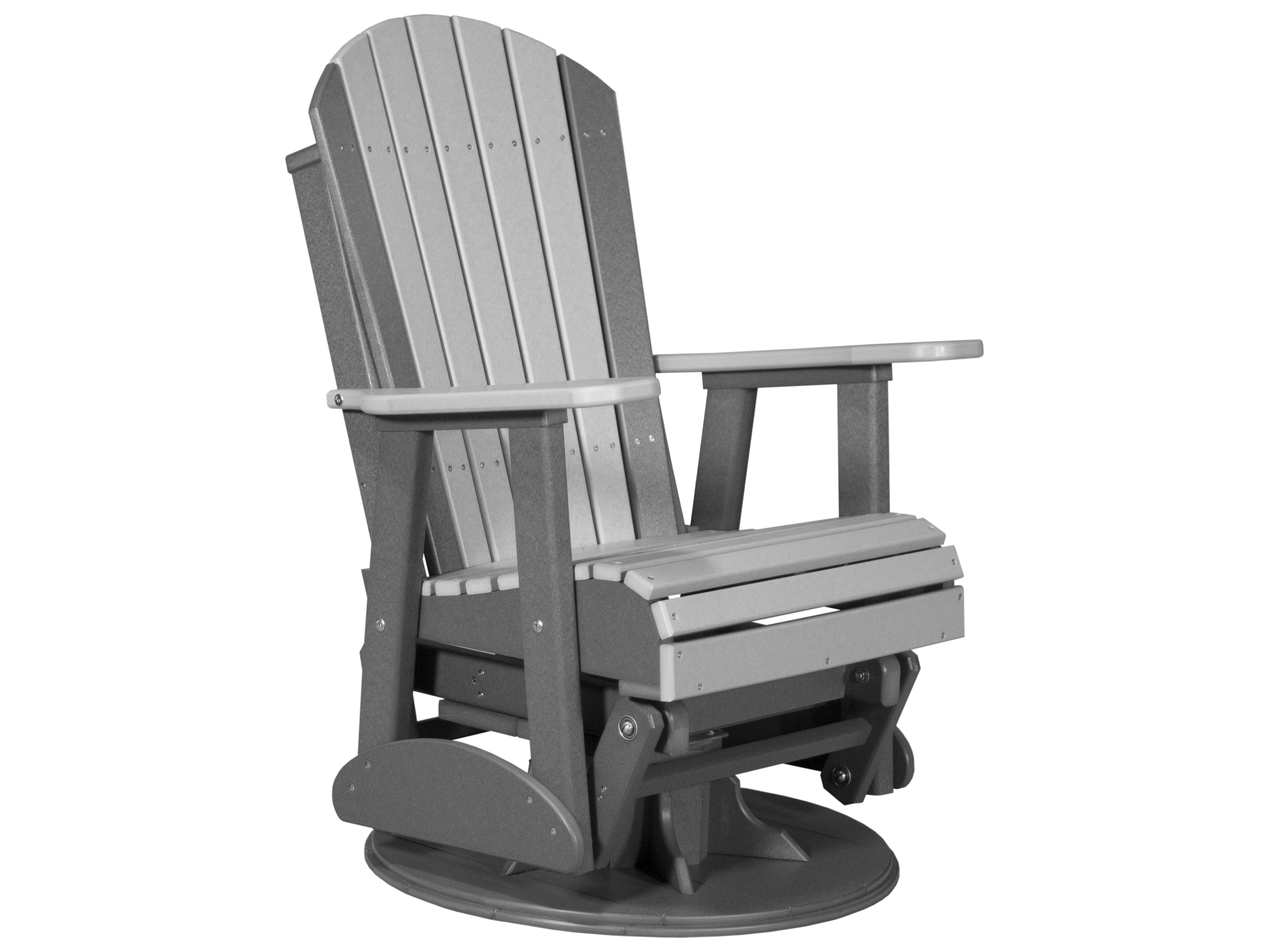 plastic swivel chair white wood desk with wheels luxcraft recycled 2 39 adirondack glider