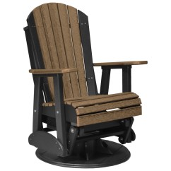 Adirondack Chairs Recycled Materials Chair Covers And Sashes Luxcraft Plastic 2 39 Swivel Glider