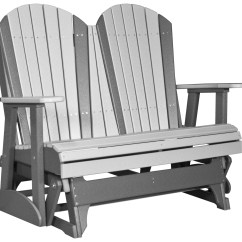 Adirondack Style Plastic Chairs Uk Yoga Swing Chair Luxcraft Recycled 4 39 Glider Loveseat