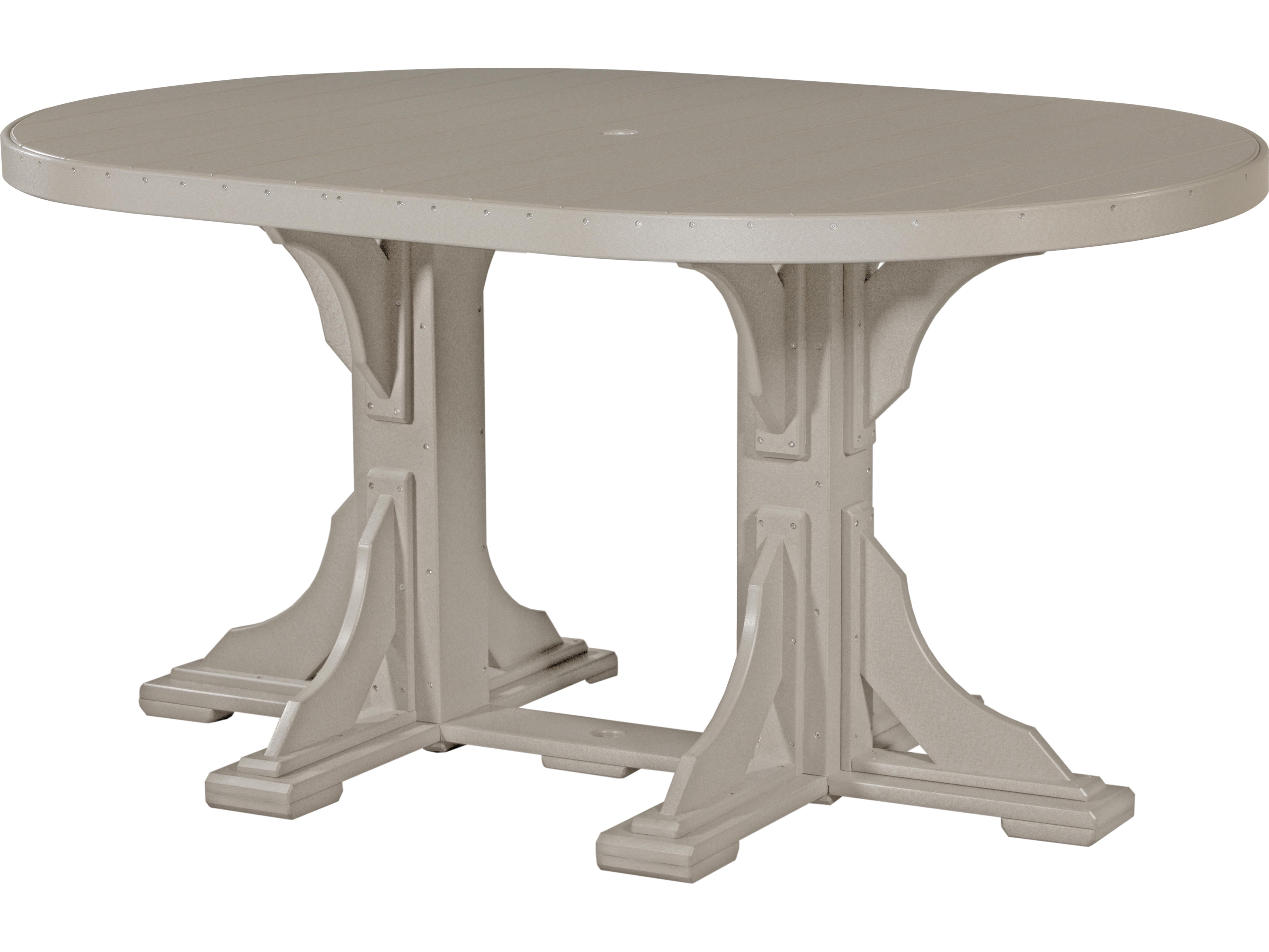 Oval Plastic Umbrella Tables