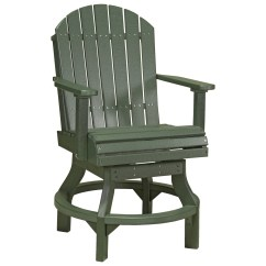 Plastic Swivel Chair Outdoor Canvas Covers Nz Luxcraft Recycled Adirondack Counter Height