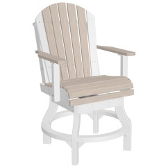 Counter Height Chair Covers Slipcovers For Club Chairs With T Cushion Luxcraft Recycled Plastic Adirondack Swivel