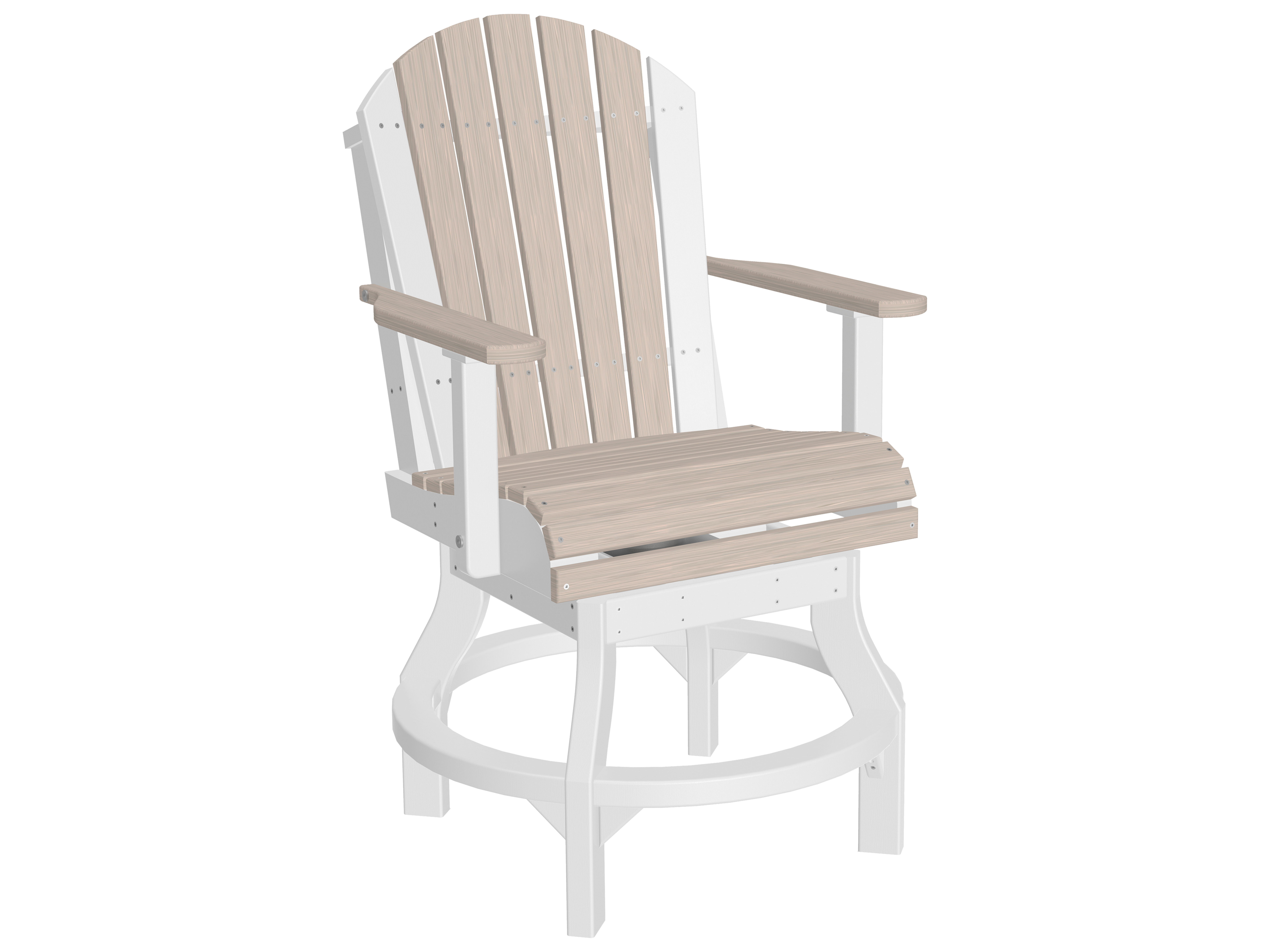 counter height chair slipcovers rent covers for cheap luxcraft recycled plastic adirondack swivel