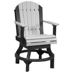 Counter Height Chair Slipcovers Director Chairs Cheap Luxcraft Recycled Plastic Adirondack Swivel
