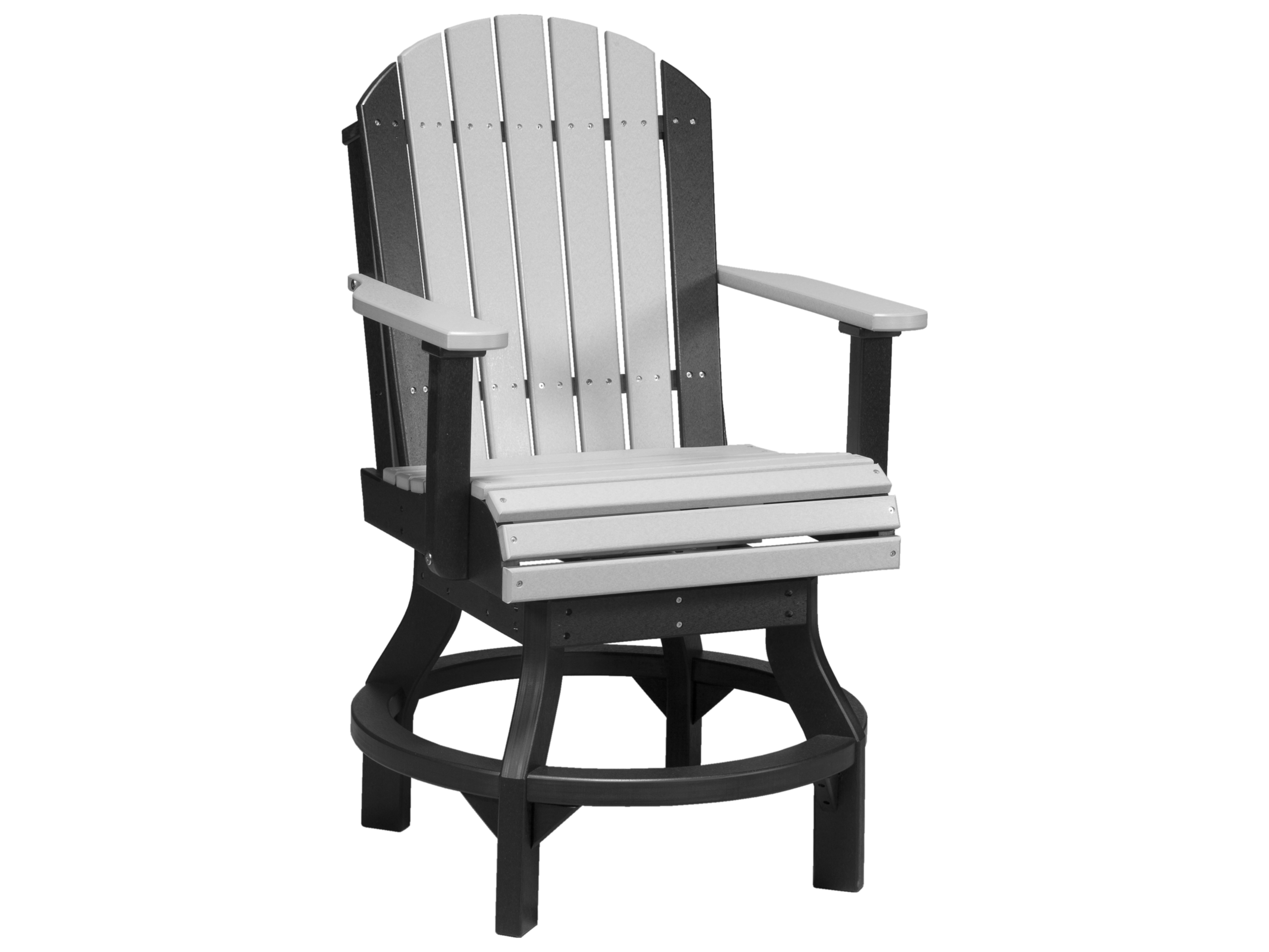 plastic swivel chair heavy duty resin adirondack chairs luxcraft recycled counter height