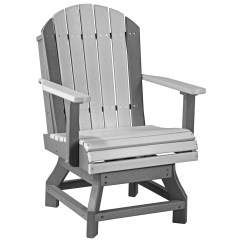 Plastic Swivel Chair Portable Fishing Luxcraft Recycled Adirondack Dining Height
