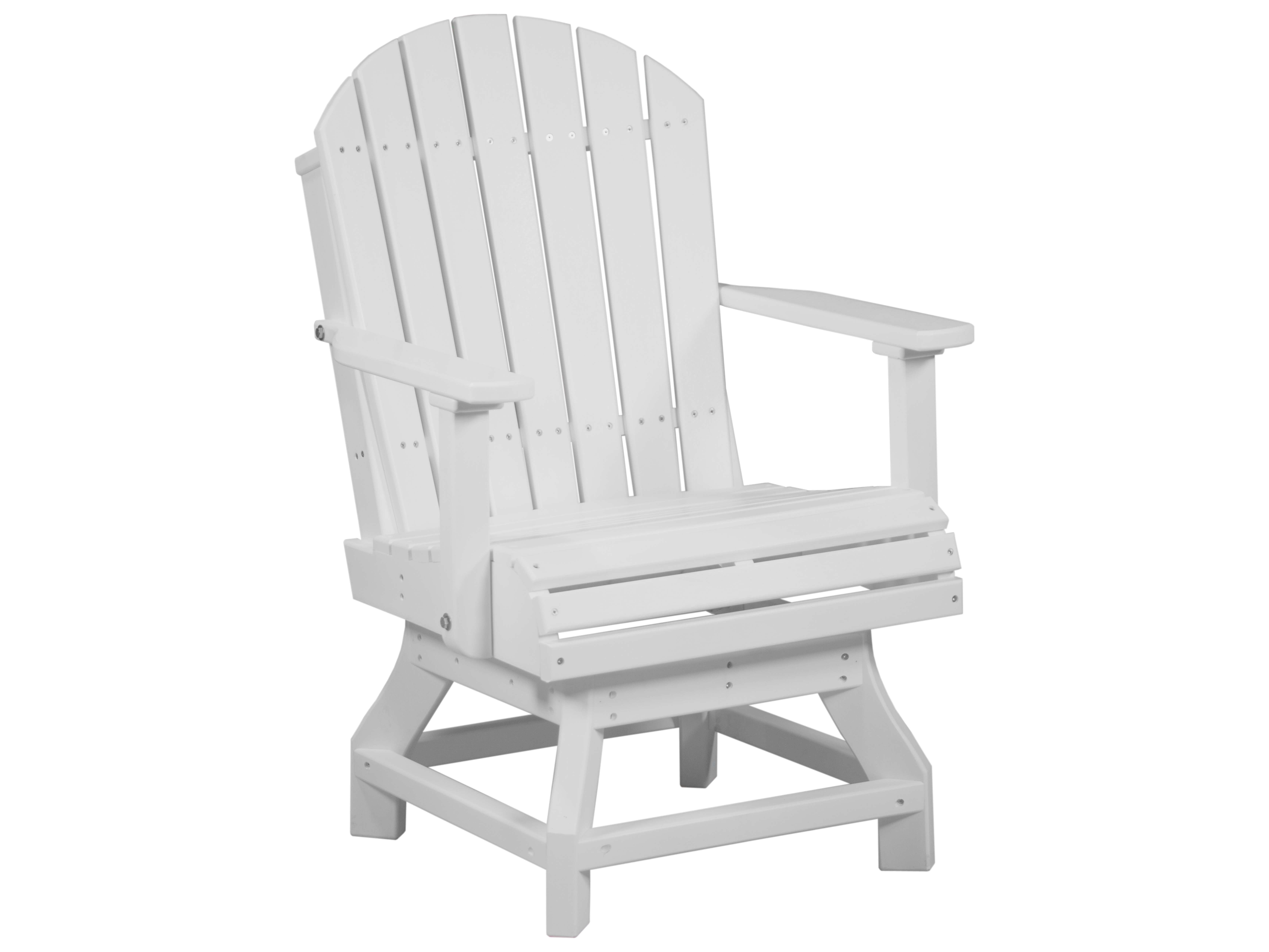 plastic swivel chair dining room stretch covers luxcraft recycled adirondack height