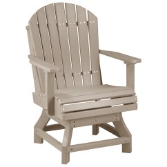 Adirondack Style Dining Chairs Keilhauer Gym Chair Luxcraft Recycled Plastic Swivel Height