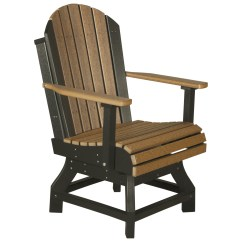 Adirondack Style Dining Chairs White Ladder Back Chair Luxcraft Recycled Plastic Swivel Height