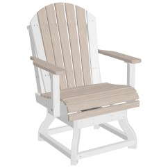 Adirondack Style Dining Chairs Ikea Hanging Wicker Chair Luxcraft Recycled Plastic Swivel Height