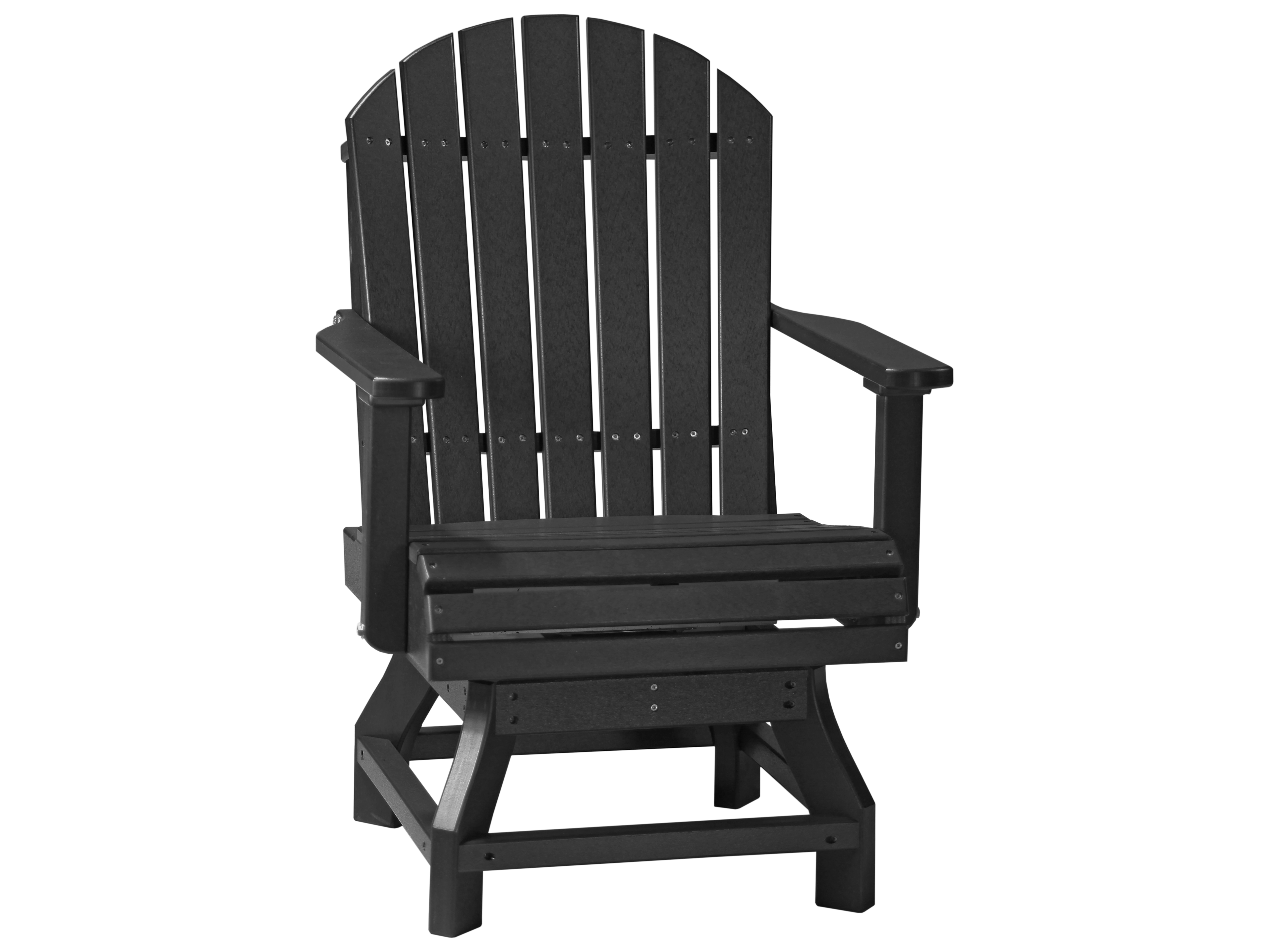 plastic swivel chair chairs for rooms luxcraft recycled adirondack dining height