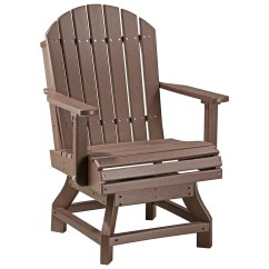 Adirondack Style Dining Chairs Outdoor Reclining Lounge Luxcraft Recycled Plastic Swivel Height