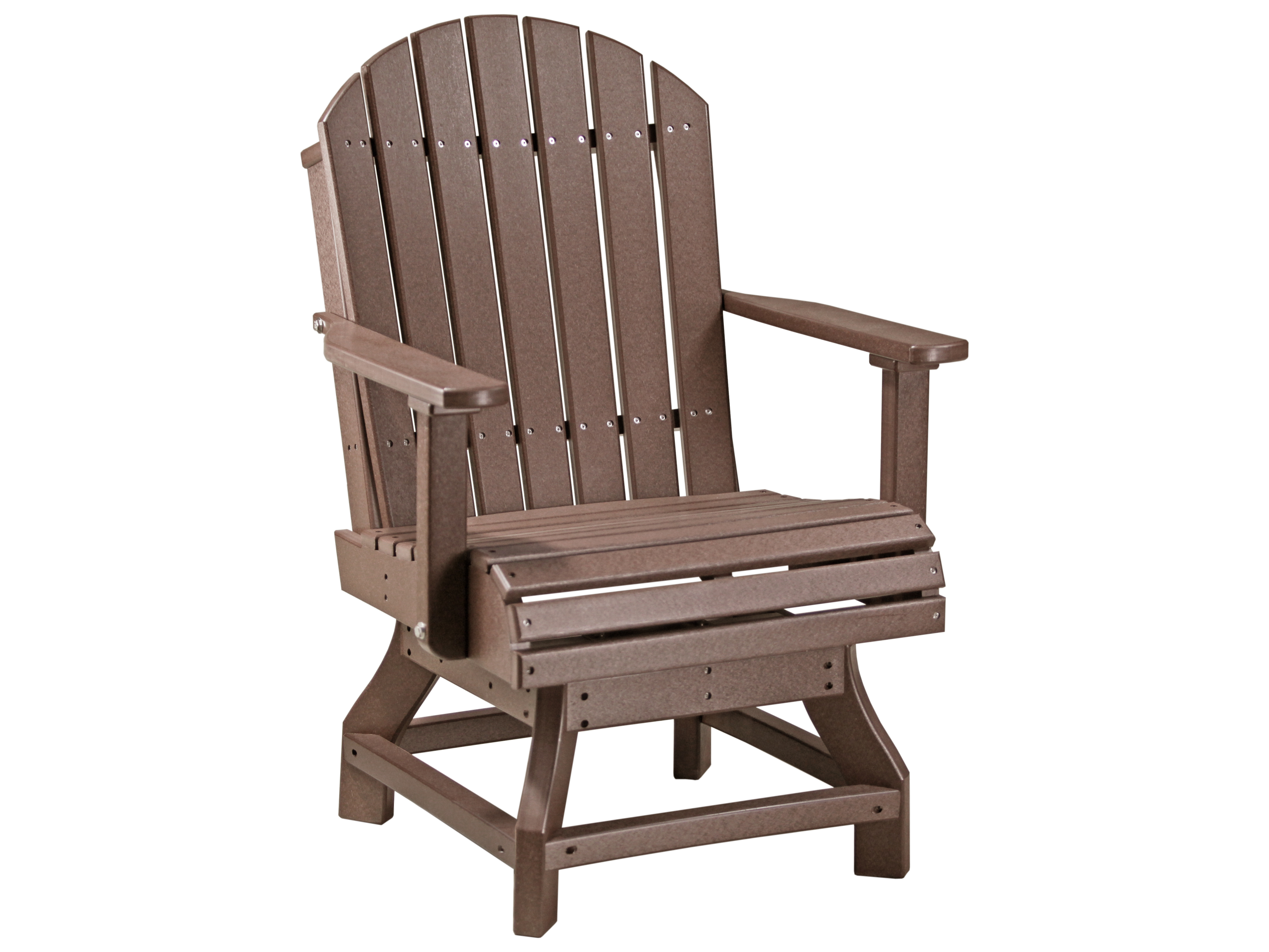 Recycled Adirondack Chairs Luxcraft Recycled Plastic Adirondack Swivel Dining Height