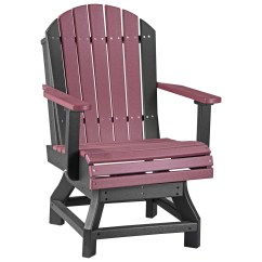 Adirondack Style Dining Chairs Kids Chair Luxcraft Recycled Plastic Swivel Height