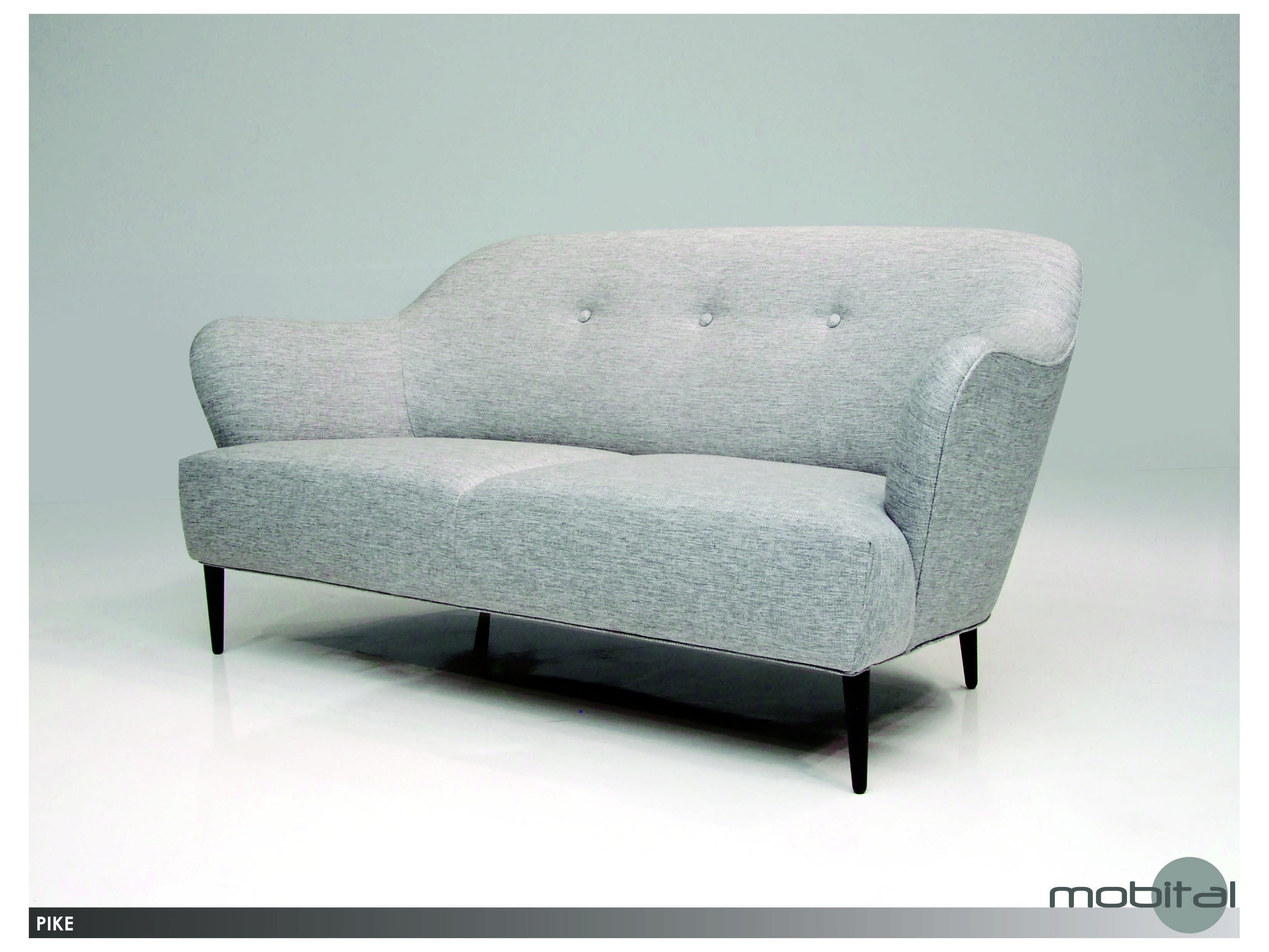 grey tweed sectional sofa lazy boy reclining assembly mobital pike light sofpikelgre