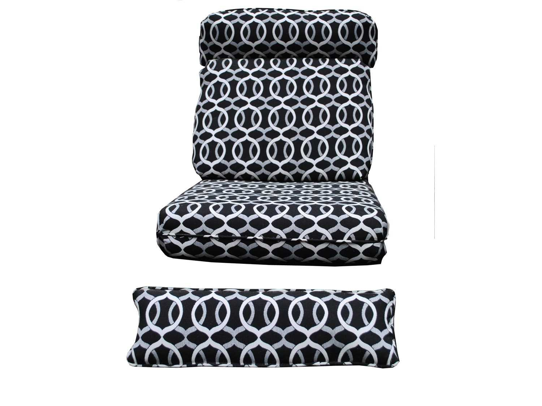 round chair cushions 14 inch big man chairs meadowcraft barcelona deep seating recliner cushion set