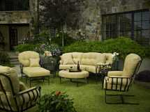 Meadowcraft Athens Wrought Iron Lounge Set Athenslng
