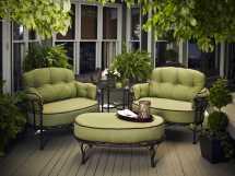 Meadowcraft Athens Wrought Iron Cuddle Lounge Set Athlcs