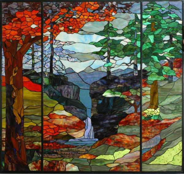 Meyda Tiffany River Of Life Stained Glass Window My107815