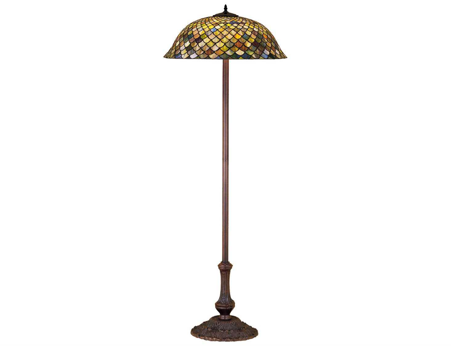 Meyda Tiffany Fishscale Green Floor Lamp