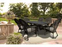 Patio Catalina Wicker 7 Piece Dining Set In