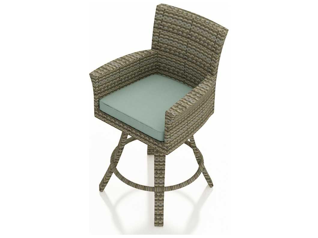hampton bay swivel patio chairs white garden chair forever wicker bar stool in heather