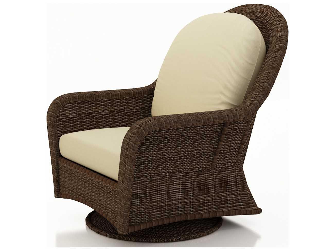 high back wicker chair cushions reclining massage forever patio winslow swivel glider