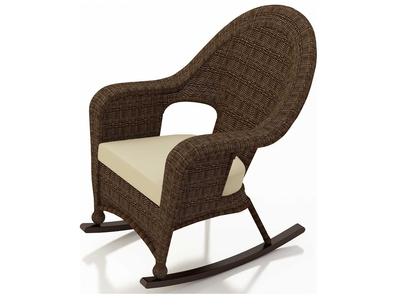 high back wicker chair cushions covers to protect from cats forever patio winslow cocoa rocker fp