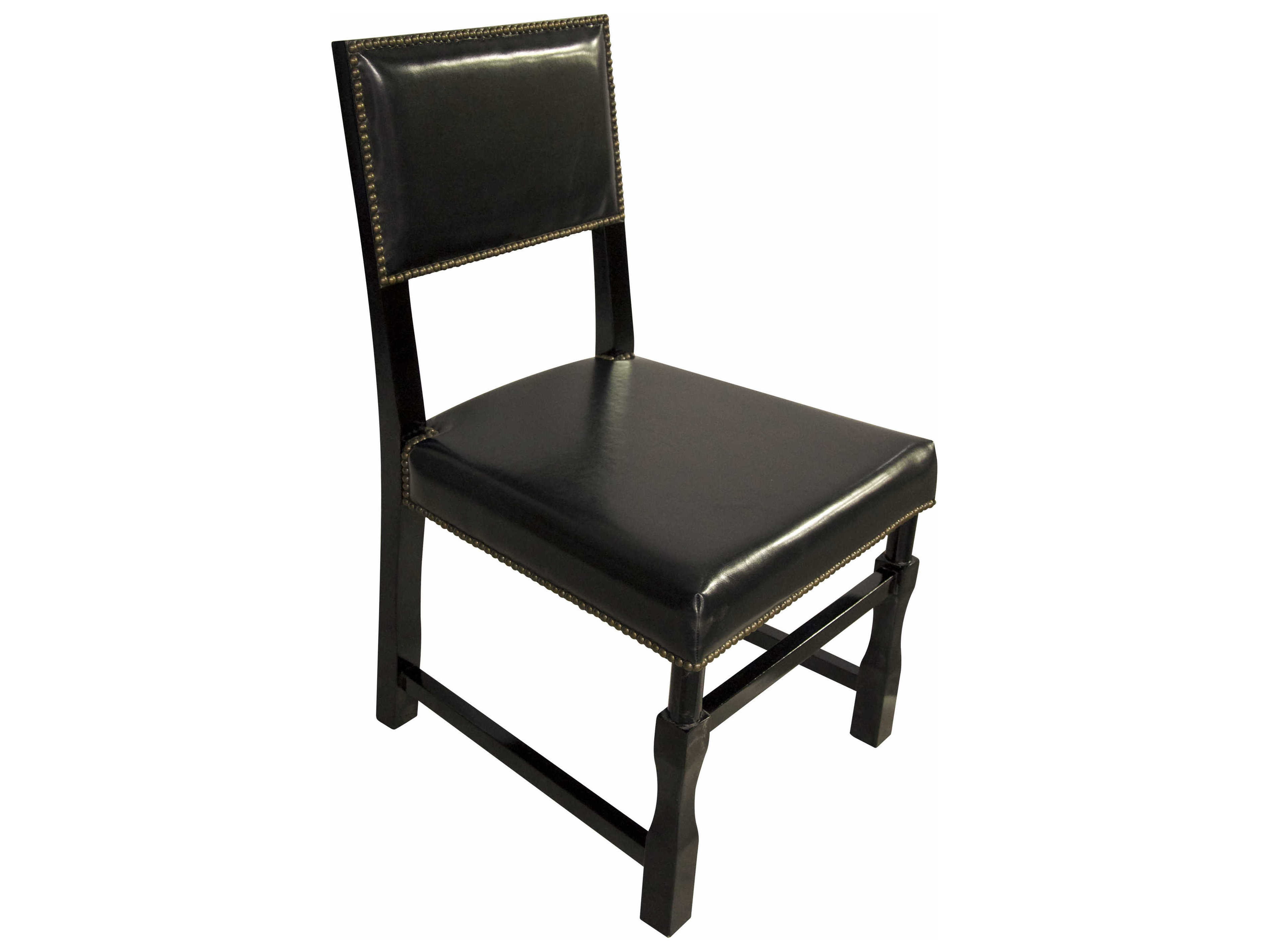 noir dining chairs rocking chair for adults furniture leather square black side