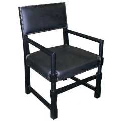 Noir Dining Chairs Black Outdoor Rocking Chair Canada Furniture Leather Square Arm