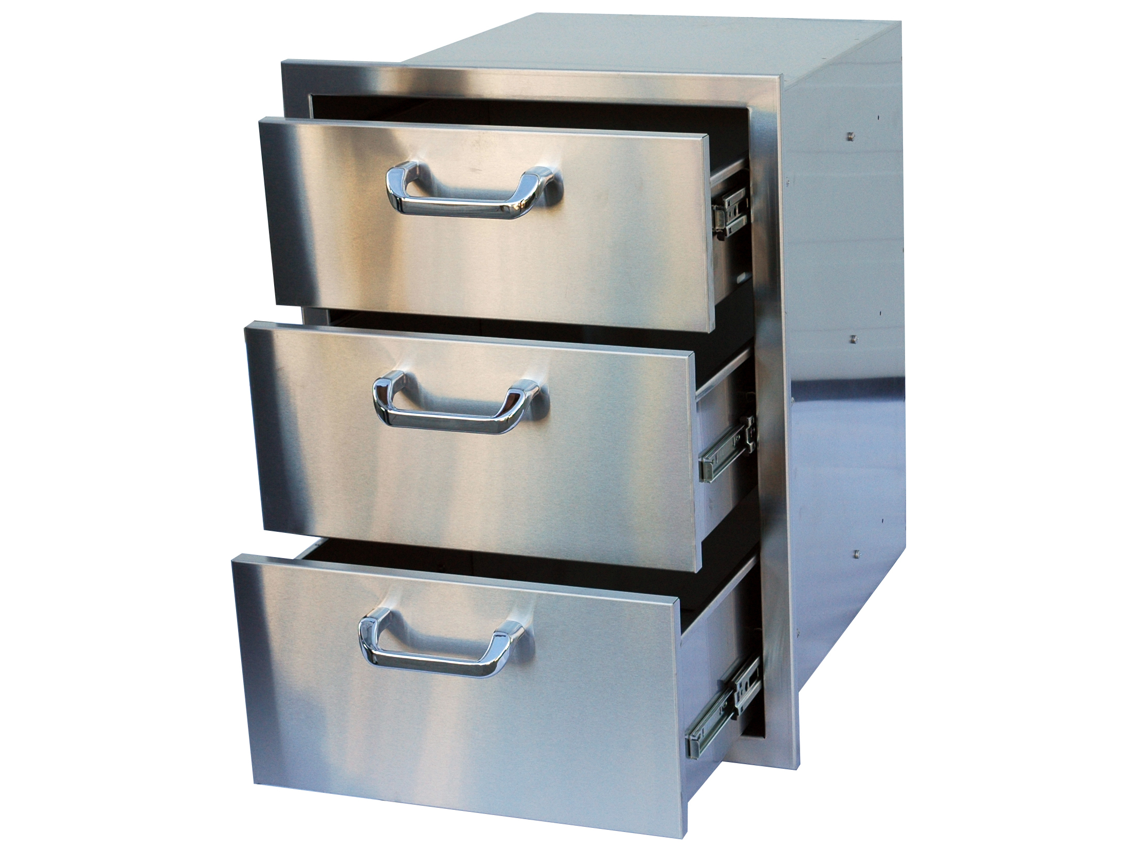 stainless steel kitchen cart with drawers bosch suite outdoor greatroom 3 drawer storage 3drw