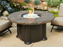 Round Outdoor Gas Fire Pit Tables