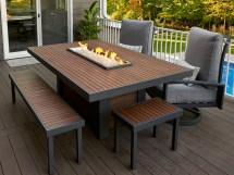 Rectangular Outdoor Fire Pit Tables