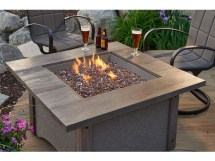 Outdoor Greatroom Pine Ridge Square Fire Pit Table With