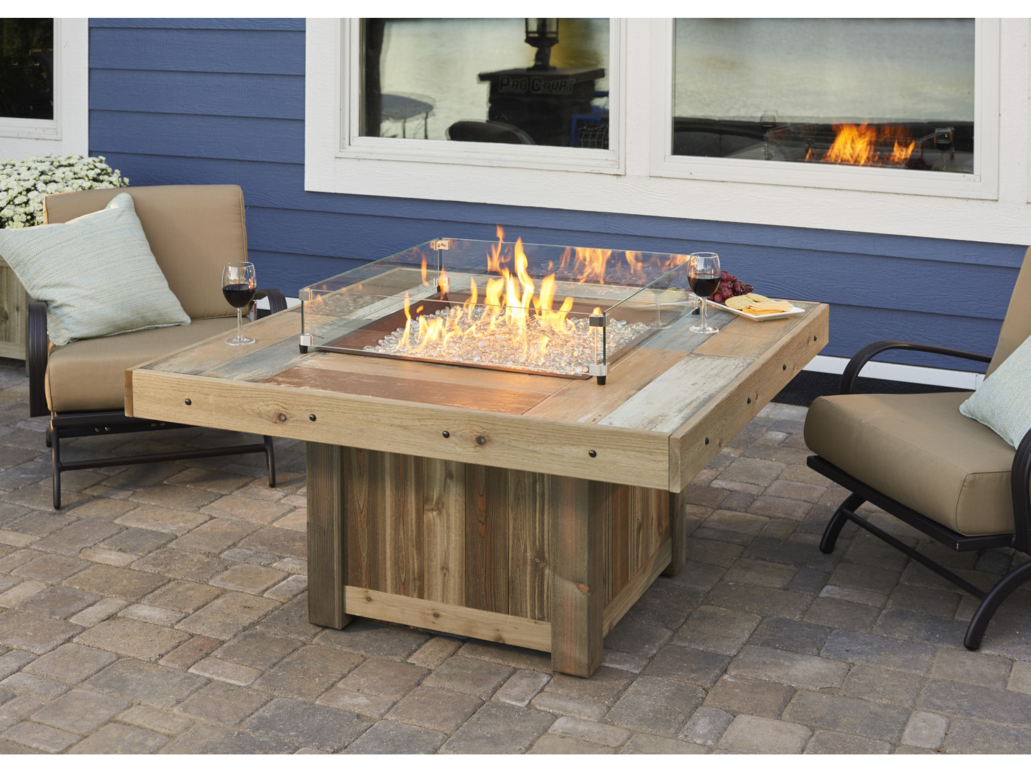Outdoor Greatroom Vintage 48 25 Square Faux Wood Fire Table Outdoor Greatroom Vintage 48.25 Square Faux Wood Fire