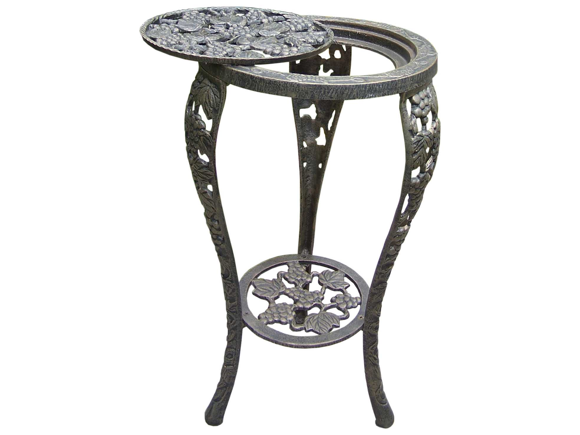 Oakland Living Vineyards Cast Iron Grape Table Plant Stand