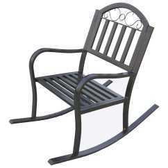 Wrought Iron Rocking Chair Heavy Duty Computer Oakland Living Rochester Rocker 6124 Hb