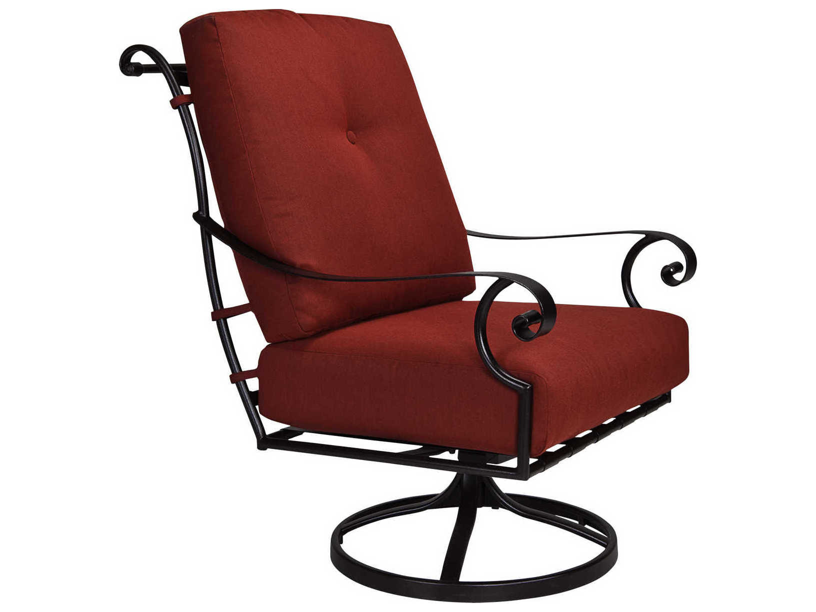 wrought iron rocking chair lucite office on wheels ow lee st charles swivel rocker lounge